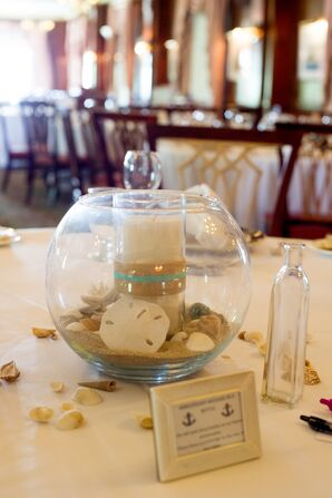 Sand Dollar and Candle Centerpieces