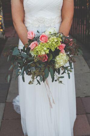 DIY Rose, Hydrangea and Viburnum Bouquet