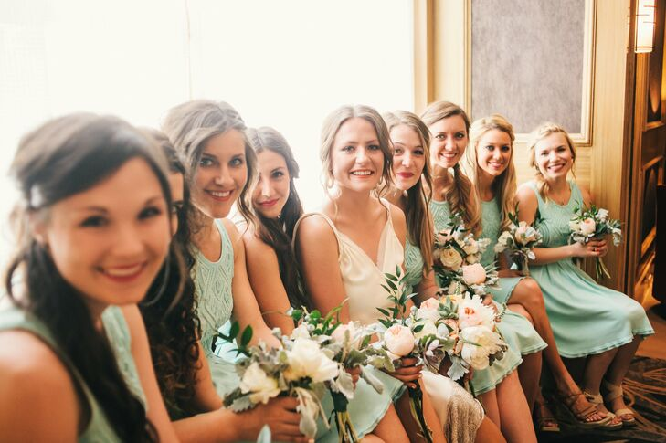 e416599377c Seafoam Green Bridesmaid Dresses