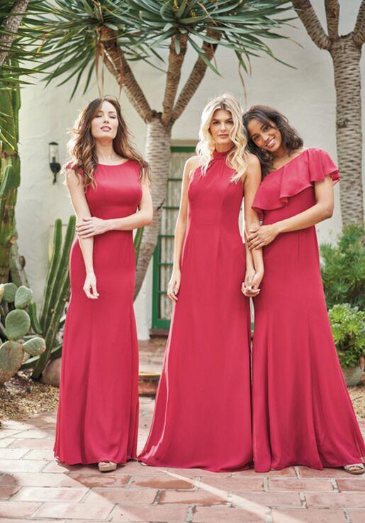 JASMINE P216060 Bateau Bridesmaid Dress