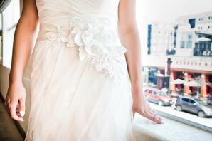 Liancarlo Flower-Adorned White Wedding Dress