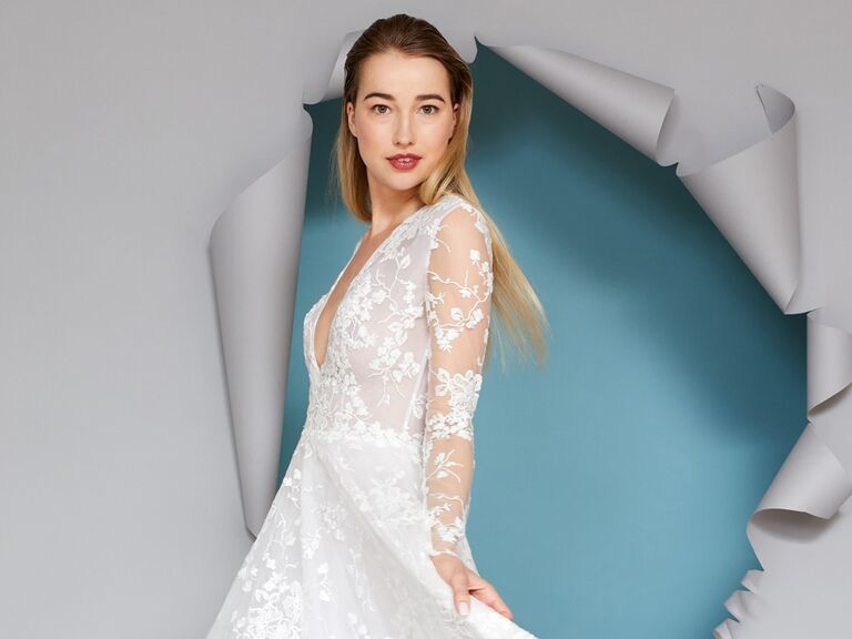 Gracy Accad lace wedding dress