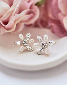Dareth Colburn Freshwater Pearl & Crystal Stud Earrings (JE-4086) Wedding Earring photo
