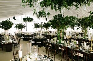 Elegant Reception Tent with Greenery