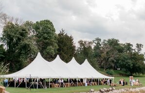 Tented Reception Outside Rockmill Brewery