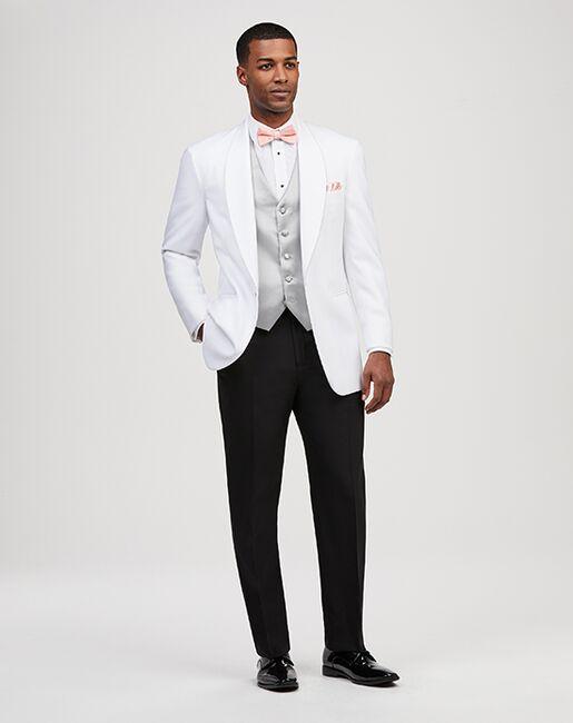 Jos. A. Bank One-Button Shawl Lapel Dinner Jacket White Tuxedo