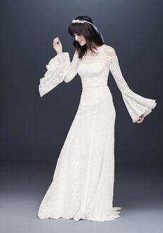 David's Bridal Galina Style WG3949 Sheath Wedding Dress