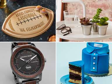 Collage of four gift ideas for father-in-law