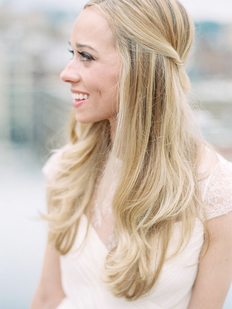 The 15 Best Half Up Half Down Wedding Hairstyles Of All Time