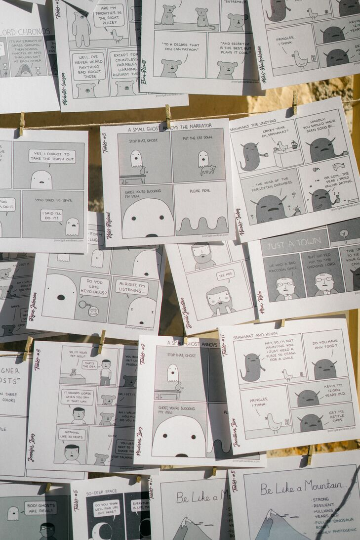 @PoorlyDrawnLines Comic Escort Cards