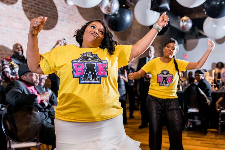 Dancing Bride with Personalized Wedding T-Shirt