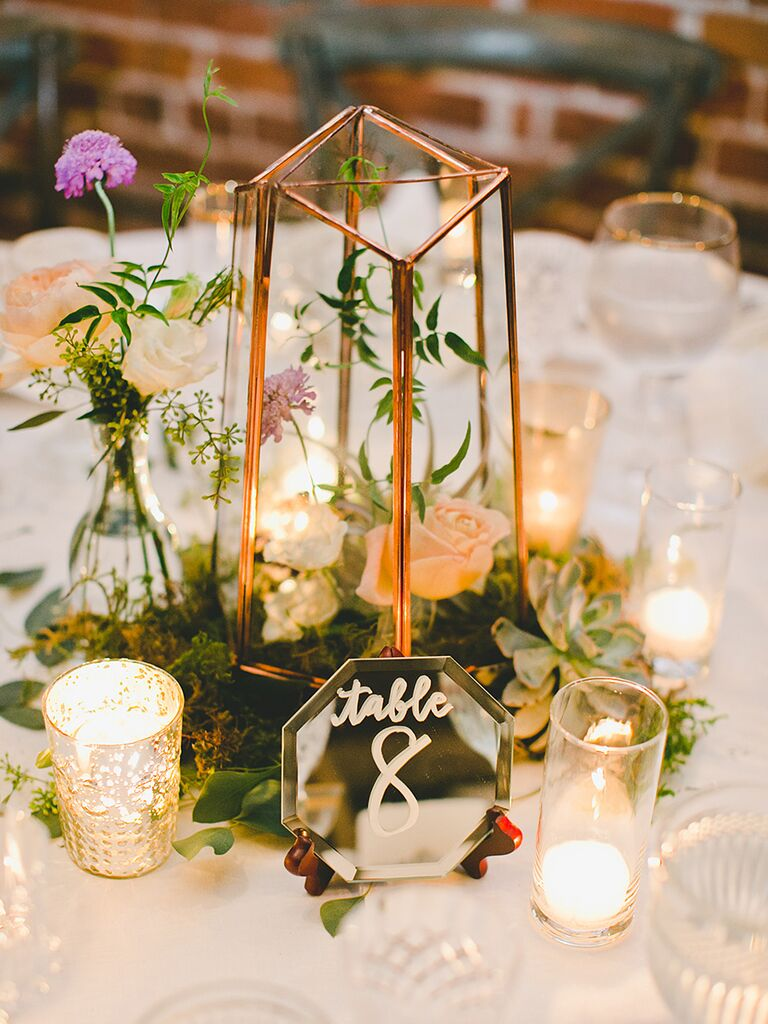 Easy Rustic Centerpiece Idea For Wedding Reception