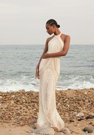 CUCCULELLI SHAHEEN Arco Halter Dress Mermaid Wedding Dress