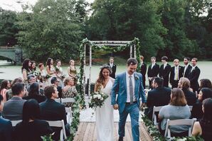 Dana and Ronan Recessional at Prospect Park Boathouse Wedding
