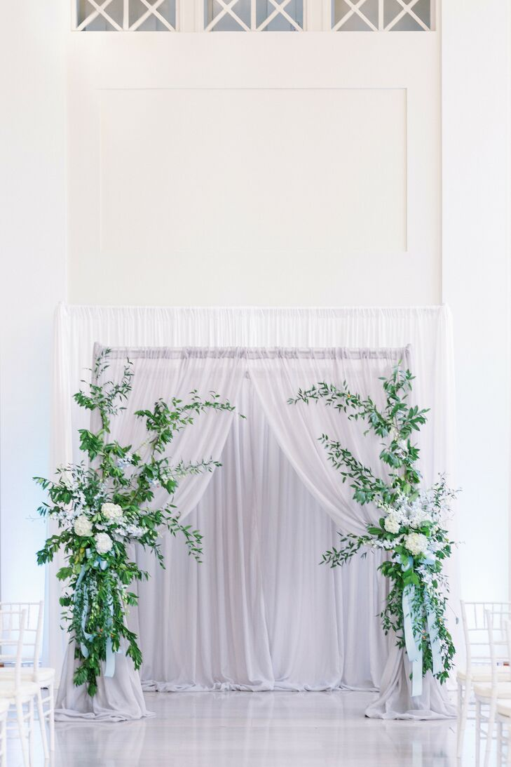 Ceremony Altar Draping for Wedding at The Vault in Tampa, Florida