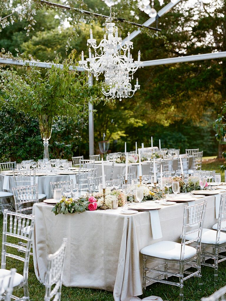 Etonnant Outdoor Reception Tables
