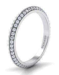 Danhov Classico Knife Edge Band White Gold Wedding Ring