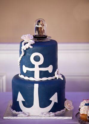Navy Nautical Wedding Cake