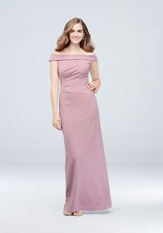 David's Bridal Collection DB STUDIO Style AP2E205054 Off the Shoulder Bridesmaid Dress