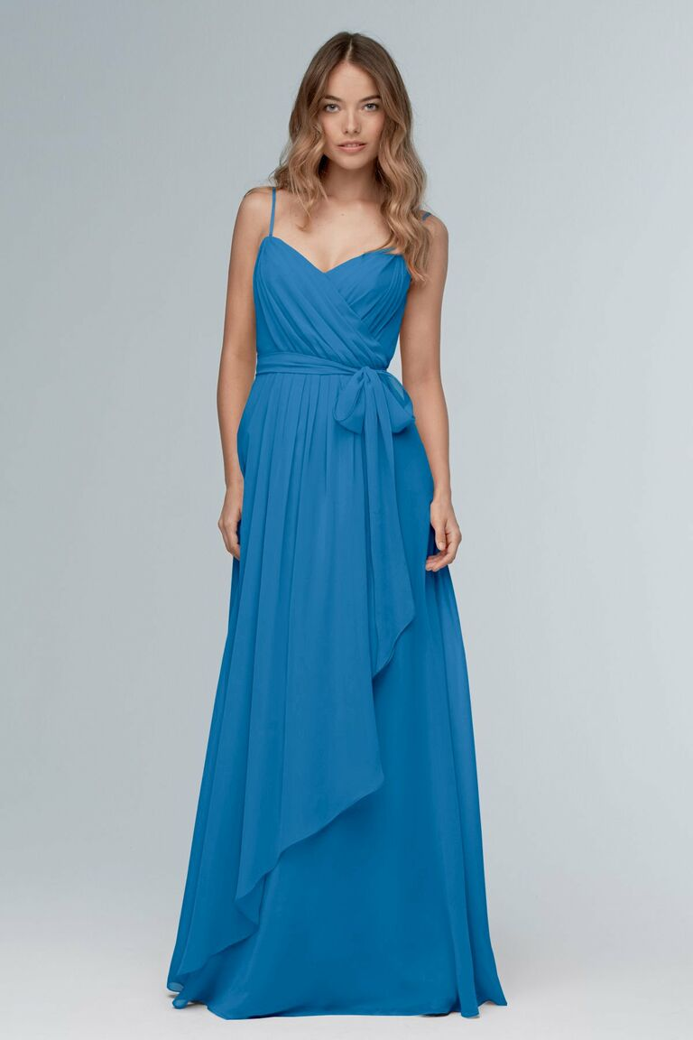 Blue bridesmaid dress from Watters