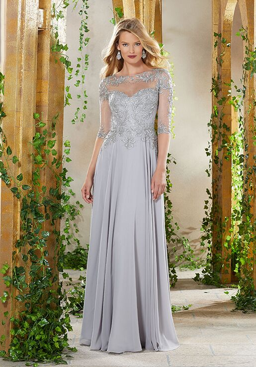 MGNY 71908 Blue Mother Of The Bride Dress