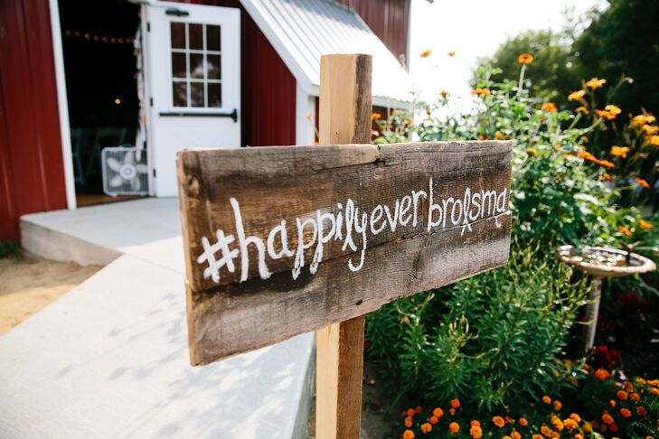 Personalized Social Media Hashtag Wedding Sign