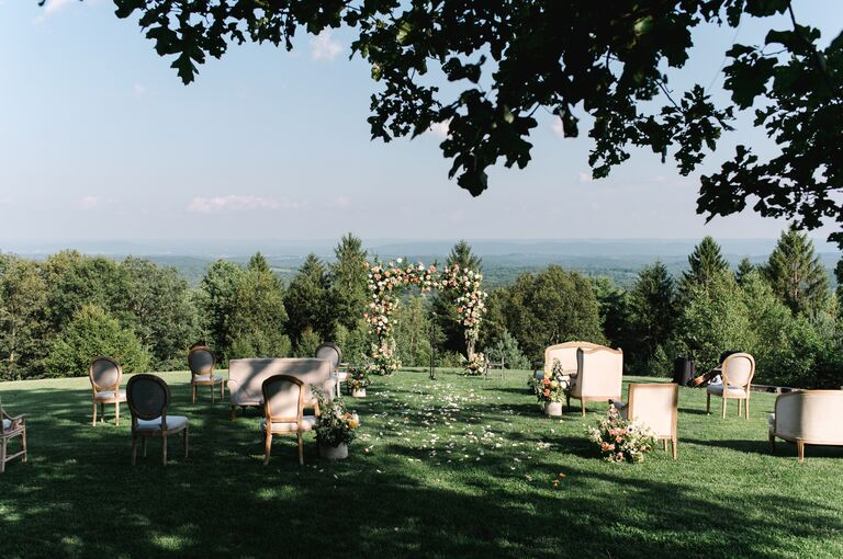 outdoor wedding mismatched wedding