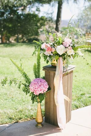 Lush Hydrangea, Rose and Peony Flower Arrangements