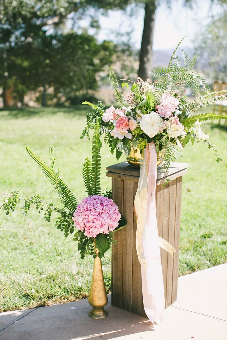 Lush Hydrangea, Rose and Peony Flower Arrangements