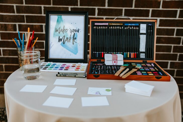 Artsy Watercolor Guest Book