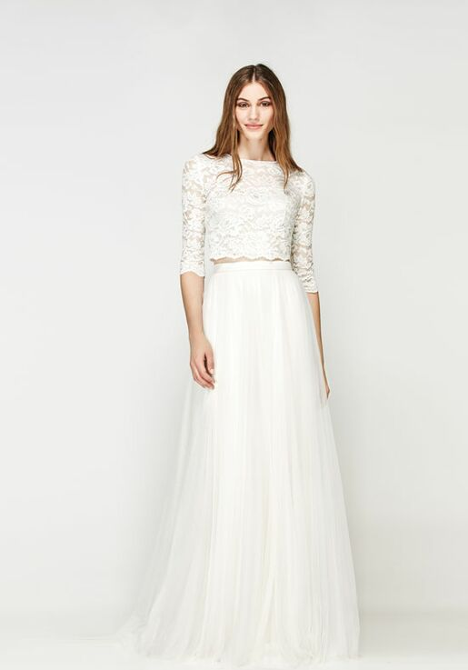 Willowby By Watters Lanikai Crop Top 56115 Amora Skirt 55612 A Line Wedding Dress