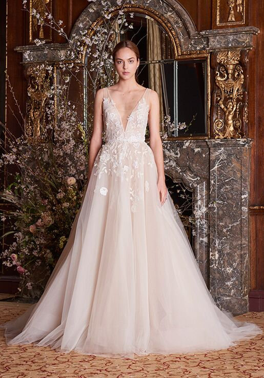 e79c3fff587d7 Monique Lhuillier Clementine Wedding Dress - The Knot