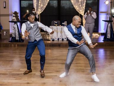 grooms on the dance floor