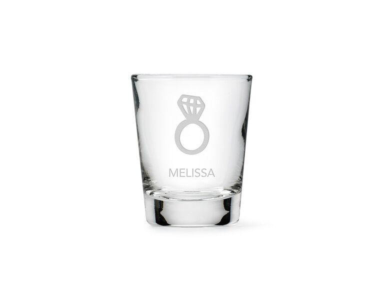 Engagement ring shot glass bachelorette party gift