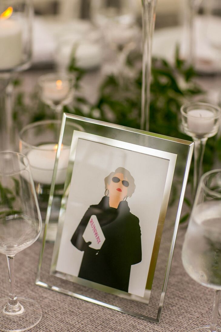Movie-Inspired Table Numbers with Elegant Frames