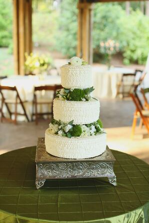 Three Tier Buttercream Cake with Greenery
