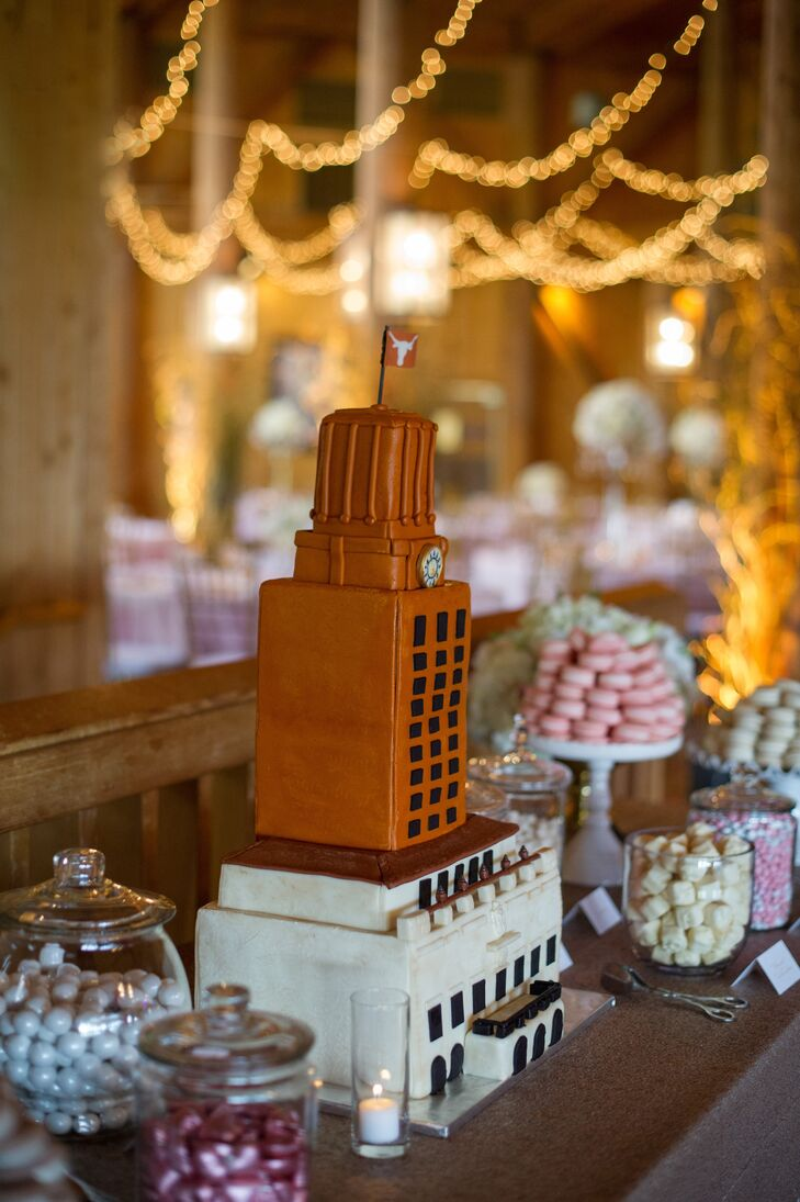 University of Texas-Themed Groom's Cake