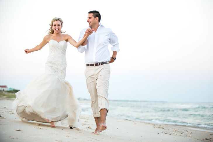Beach Wedding On St George Island Florida