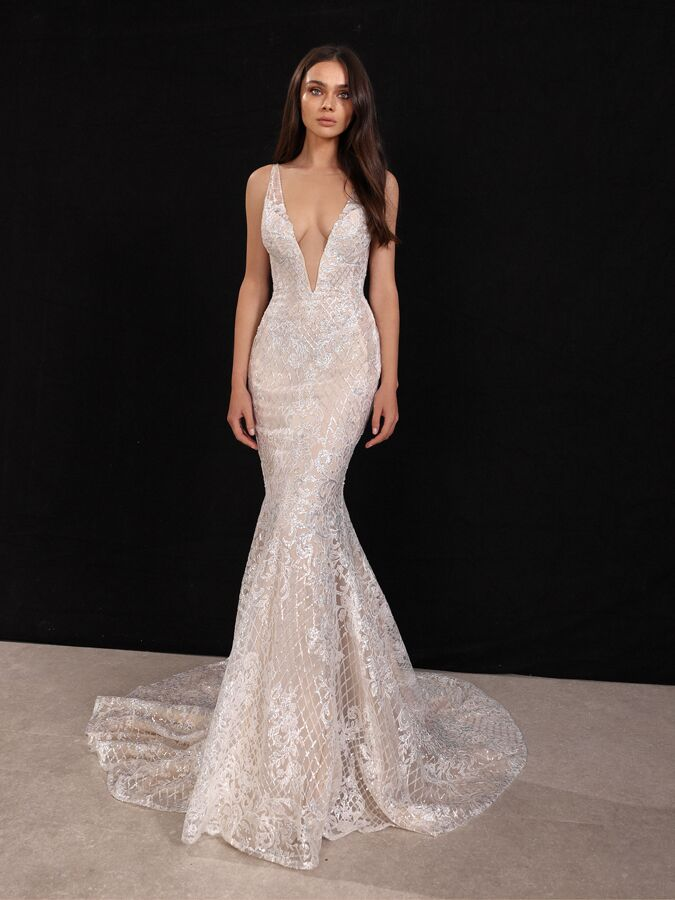 Gala by Galia Lahav sequin lace mermaid wedding dress