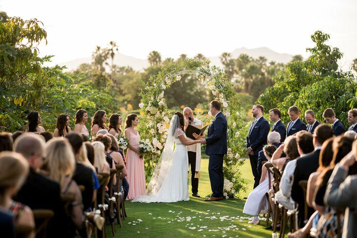Romantic Garden Wedding Ceremony with Rose Arch