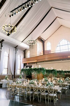 Reception Hall at Classic Garden Wedding in Wilmington, North Carolina