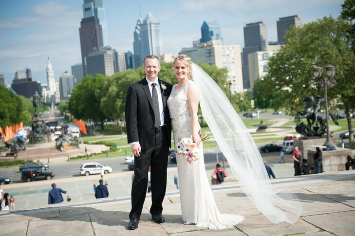 Kara and Tom let the beauty of their venue take center tage at their elegant and romantic celebration in Philadelphia.