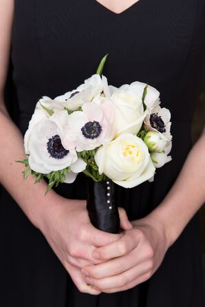 Black-and-White Bouquets With Anemones, Peonies