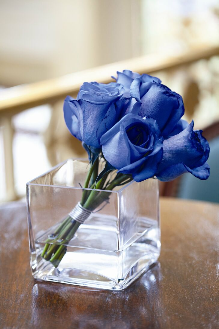 Blue Rose Centerpiece