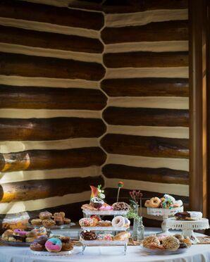 Donut Desserts on Vintage Cake Stands