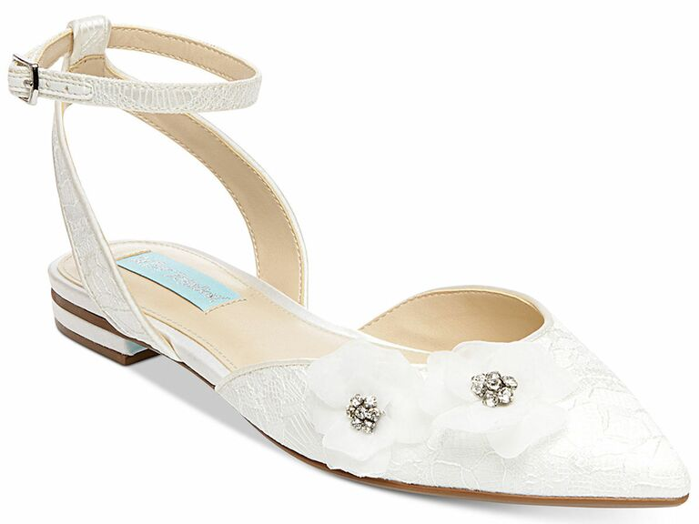 Betsey Johnson pointed flat wedding shoes