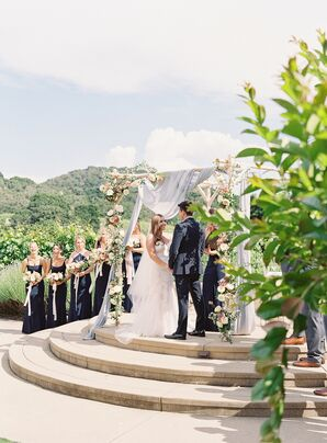 Couple Exchanging Vows at Holman Ranch in Carmel Valley, California