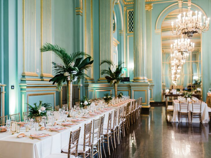 Modern and Elegant Reception at The Green Room in San Francisco