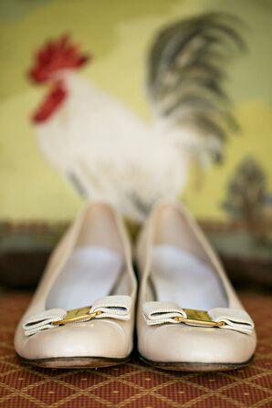 Bow Detail Bridal Shoes