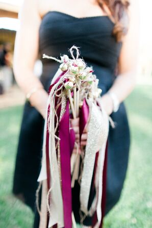 Rustic Burlap and Ribbon Recessional Ribbons